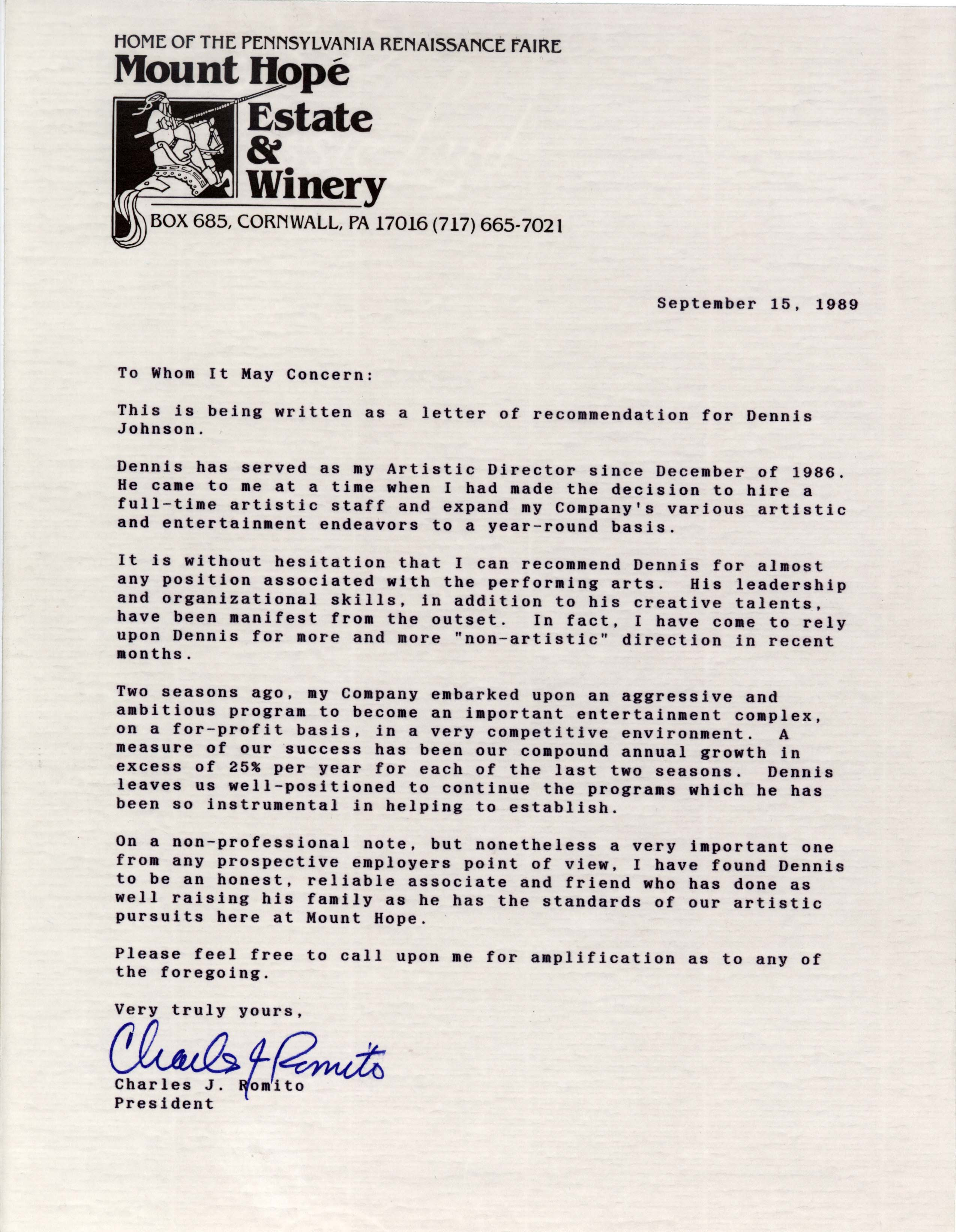 Romito-Recommendation-Letter